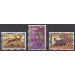 Congo belge - République - 1960 - No 409/411 - Animaux