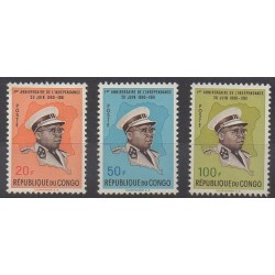 Belgium congo - republic - 1961 - Nb 442/444 - Various Historics Themes