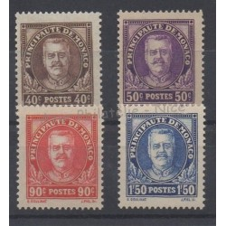 Monaco - 1933 - Nb 115/118 - Mint hinged