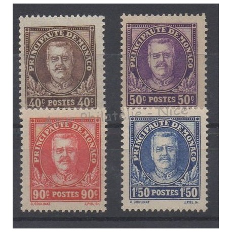Monaco - 1933 - Nb 115/118 - Mint hinged