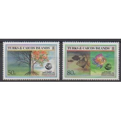 Turks et Caiques (Iles) - 1992 - No 1020/1021 - Environnement