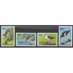 Turks et Caiques (Iles) - 1990 - No 903/906 - Oiseaux