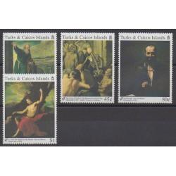 Turks et Caiques (Iles) - 1992 - No 990/993 - Peinture - Philatélie