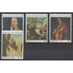 Turks et Caiques (Iles) - 1992 - No 996/999 - Peinture - Philatélie