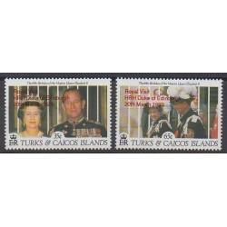 Turks and Caicos ( Islands) - 1993 - Nb 1024/1025 - Royalty