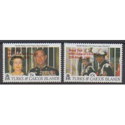 Turks et Caiques (Iles) - 1993 - No 1024/1025 - Royauté - Principauté