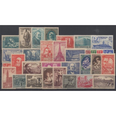 France - 1939 - Nb 419/450