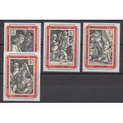 Turks et Caiques (Iles) - 1993 - No 1034/1037 - Peinture - Noël
