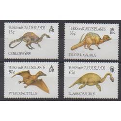Turks et Caiques (Iles) - 1993 - No 1050/1053 - Animaux préhistoriques
