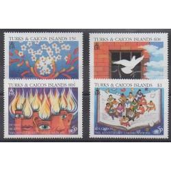 Turks et Caiques (Iles) - 1996 - No 1183/1186 - Droits de l'Homme - Nations unies