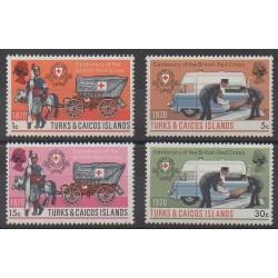 Turks et Caiques (Iles) - 1970 - No 250/253 - Santé ou Croix-Rouge
