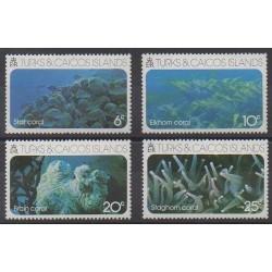 Turks et Caiques (Iles) - 1975 - No 347/350 - Animaux marins
