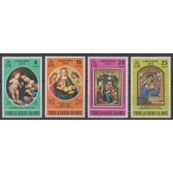 Turks et Caiques (Iles) - 1976 - No 357/360 - Noël