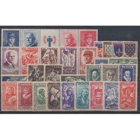 France - 1943 - Nb 568/598