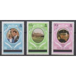 Caiques (Iles) - 1981 - No 8(A)/10(A) - Royauté - Principauté