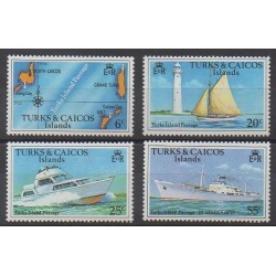 Turks and Caicos ( Islands) - 1978 - Nb 391/394 - Boats