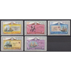 Turks et Caiques (Iles) - 1979 - No 440/444 - Service postal