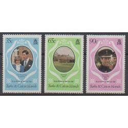 Turks et Caiques (Iles) - 1981 - No 531/533 - Royauté - Principauté