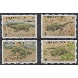 Turks et Caiques (Iles) - 1986 - No 758/761 - Reptiles
