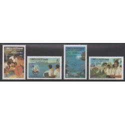 Turks et Caiques (Iles) - 1988 - No 781/784 - Scoutisme