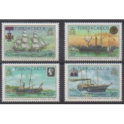 Turks and Caicos ( Islands) - 1987 - Nb 765/768 - Boats