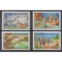 Turks et Caiques (Iles) - 1988 - No 777/780 - Christophe Colomb