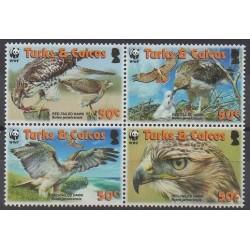 Turks et Caiques (Iles) - 2007 - No 1679/1682 - Oiseaux - Espèces menacées - WWF
