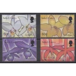 Turks et Caiques (Iles) - 2003 - No 1639/1642 - Orchidées