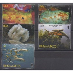 Turks and Caicos ( Islands) - 2006 - Nb 1643/1647 - Sea animals - Reptils
