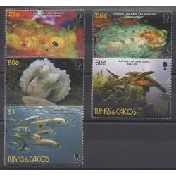 Turks et Caiques (Iles) - 2006 - No 1643/1647 - Animaux marins - Reptiles