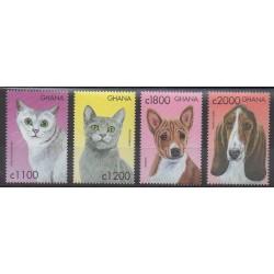Ghana - 2000 - No 2585/2588 - Chiens - Chats