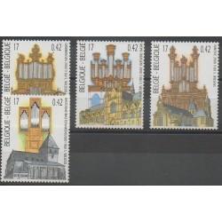 Belgique - 2000 - No 2924/2927 - Églises - Musique