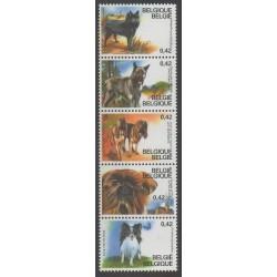 Belgium - 2002 - Nb 3059/3063 - Dogs