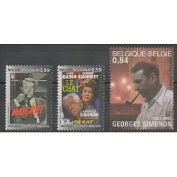 Belgique - 2003 - No 3160/3162 - Cinéma - Littérature