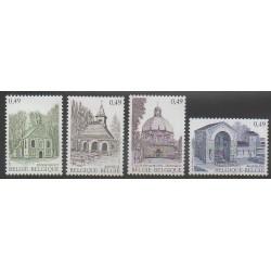 Belgique - 2004 - No 3247/3250 - Églises - Tourisme