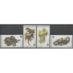 Belgium - 2000 - Nb 2895/2898 - Reptils - Endangered species - WWF