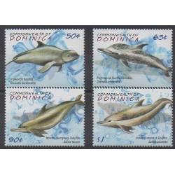 Dominique - 2009 - No 3456/3459 - Mammifères - Animaux marins
