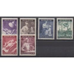 Autriche - 1954 - No 832/837 - Santé ou Croix-Rouge