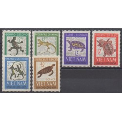 North Vietnam - 1966 - Nb 488/493 - Reptils