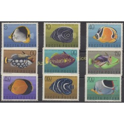 Poland - 1967 - Nb 1598/1606 - Fishes