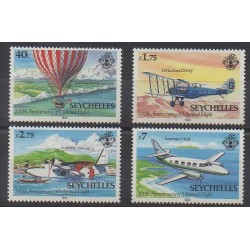 Seychelles - 1983 - No 530/533 - Aviation - Ballons - Dirigeables