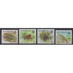 Seychelles - 1991 - No 739/742 - Reptiles - Mammifères