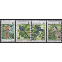 Seychelles - 1996 - No 802/805 - Oiseaux - Espèces menacées - WWF