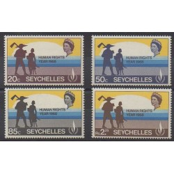 Seychelles - 1968 - No 239/242 - Droits de l'Homme