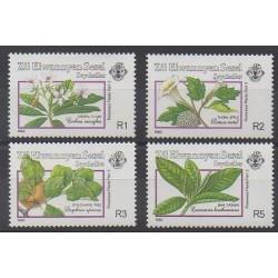 Seychelles Zil Eloigne Sesel - 1990 - No 200/203 - Fleurs