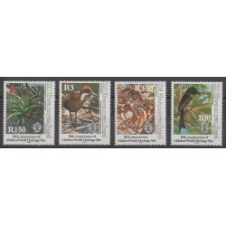 Seychelles Zil Eloigne Sesel - 1992 - No 216/219 - Oiseaux