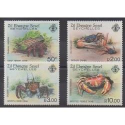 Seychelles Zil Eloigne Sesel - 1984 - Nb 101/104 - Sea animals
