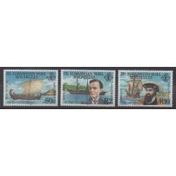 Seychelles Zil Eloigne Sesel - 1985 - Nb 124/126 - Boats