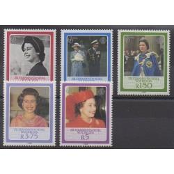 Seychelles Zil Eloigne Sesel - 1986 - Nb 127/131 - Royalty