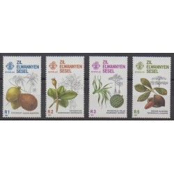 Seychelles Zil Eloigne Sesel - 1987 - No 150/153 - Fruits ou légumes
